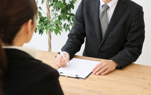 失業者の面接