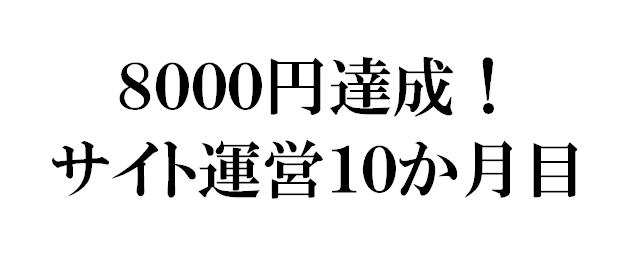 アドセンスで合計収入8000円達成!サイト運営8ヵ月目の報告